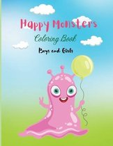 Happy Monsters Coloring Book
