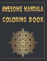 Awesome Mandala Coloring Book