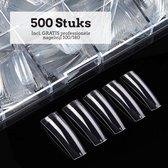 Nagel Tips Eldur - Kunstnagel Set 500 Stuks transparant- Acryl en Gel - 500 stuks - Gratis verzending