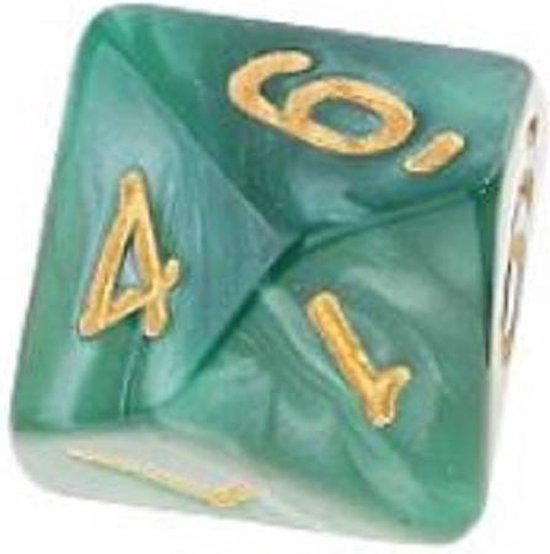 Afbeelding van het spel 10-Kantige Dobbelsteen (SET van 10 STUKS) - D10 - Groen Goud - Hoge Kwaliteit - 10 Zijdige Dobbelsteen - Stipco