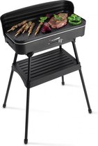 Fritel Elektrische Barbecue en Tafelgrill - Grilloppervlak (LxB) 50x25 cm - 2200W -  Met Onderstel - Zwart