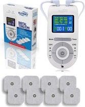 Kluvaro KRES100B Tens Apparaat - Elektrodentherapie Apparaat voor Spierstimulatie (EMS) en Pijnverlichting/Pijn Therapie - Massage Apparaat - Nekmassage - Voetmassage - Acupressuur - Met 8 Extra Elektrodenpads