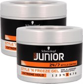 Junior Style 'N freeze Extreme Hold Haar Gel Multi Pack - 2 x 200 ml