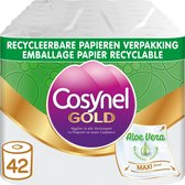 Cosynel Gold Aloe Vera Toiletpapier - 3 lagen - 42 rollen - Papieren Verpakking