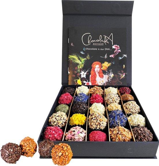 ChocolaDNA - Grote luxe chocolade geschenkdoos met handgemaakte chocolade...