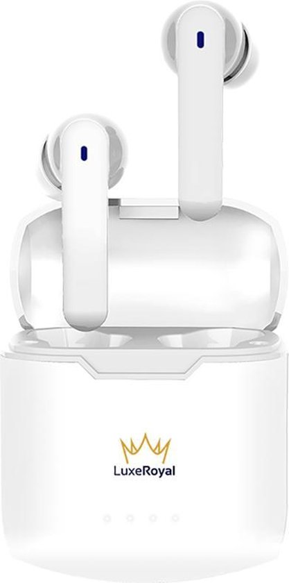 LuxeRoyal - Volledig draadloze oordopjes - draadloze oordopjes - bluetooth oordopjes - wireless earbuds - draadloze oortjes - Wit