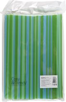 Cosy & Trendy rietjes Groen en blauw Biologisch afbreekbaar - Set van 400 stuks - D0.4 x L24 cm - Bio plastic