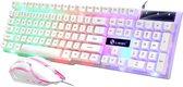 Jotechs Gaming Toetsenbord Met Gratis Muis - QWERTY - White