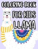 Coloring Book For Kids Llama