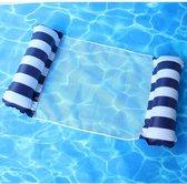 Waterhangmat - Luchtbed Zwembad - Luchtmatras opblaasbaar - Donker Blauw - Zwembad/Strand - Waterspeelgoed - Vakantie