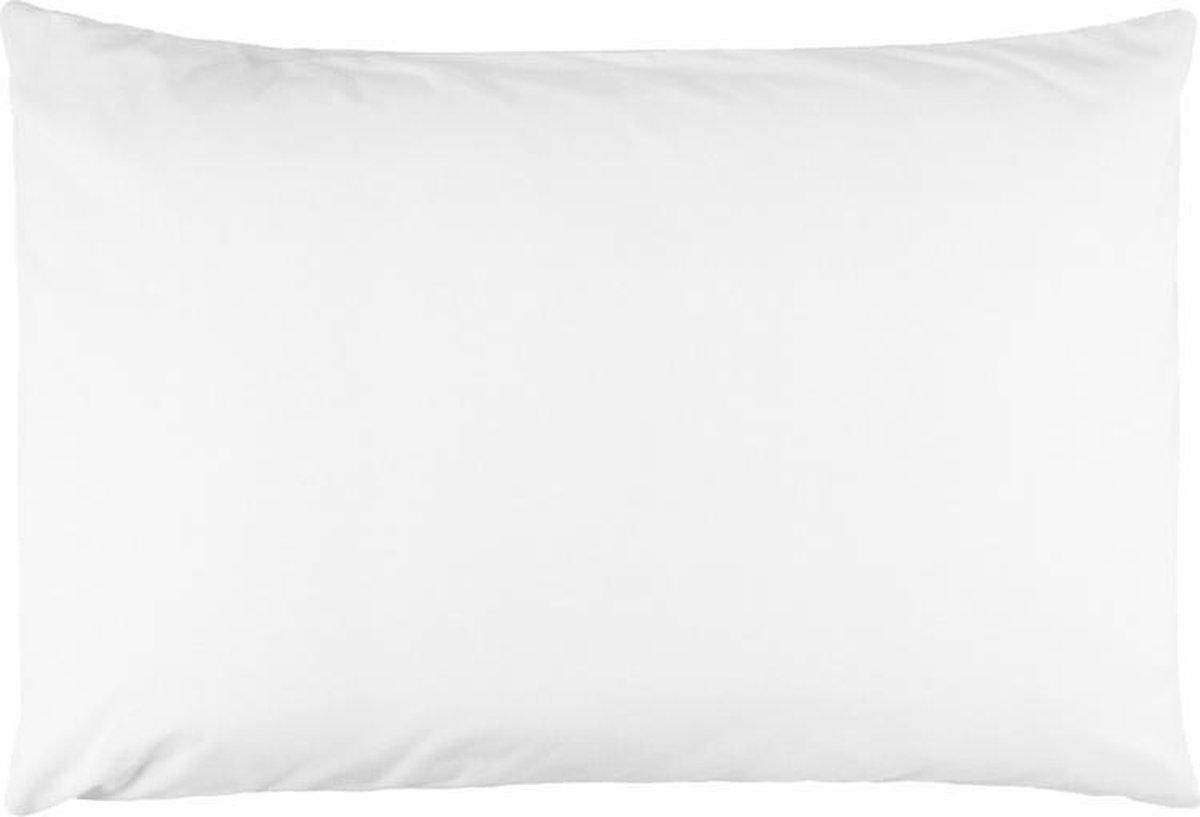 Zijden kussensloop, 100%  moerbei zijde, kwaliteit 19 Momme. Kleur wit, maat 60x70 cm.