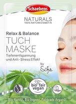 Schaebens Doekmasker Naturals Relax & Balance, 1 stuk.