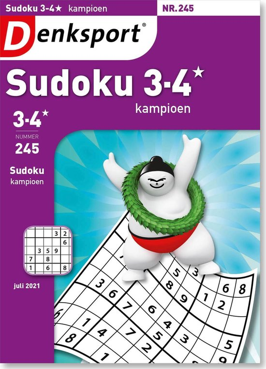 Afbeelding van Denksport Puzzelboek, Sudoku 3-4* kampioen, editie 245