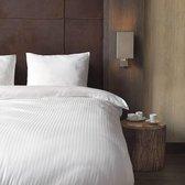 Beau Maison Hotellinnen Wit Katoen Satijn 240x200/220 + 2 kussenslopen 60x70 cm