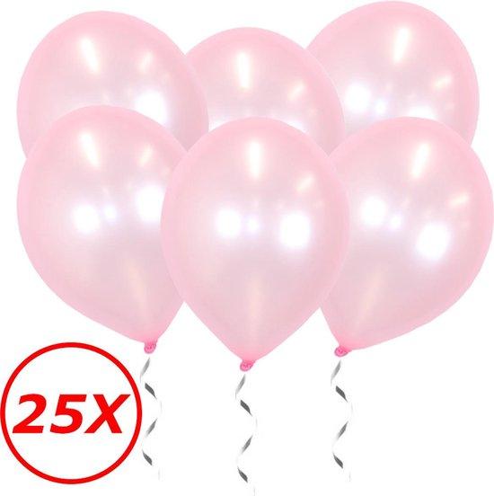 Roze Ballonnen Metallic 25 Stuks Feestversiering Gender Reveal Verjaardag Ballon
