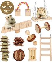 10-Pack Houten Knaagdieren Speelgoed - Voordeelverpakking - Hamster Speelgoed - Knaagdieren - Cavia - Ratten - Hout