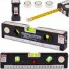 A&K Laserwaterpas – 3 Verschillende Lasers – Inclusief Rolmaat 1,50 cm - Klussen - Waterpas met Laser - Torpedo waterpas
