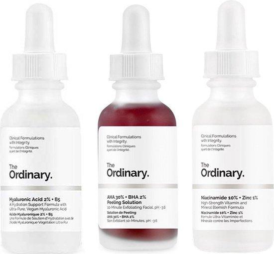 THE ORDINARY BESTSELLERS IN ONE BUNDLE ! - The Ordinary AHA 30% + 2% Peeling Solution - Hyaluronic Acid 2% + B5 - Niacinamide 10% + Zinc 1% -