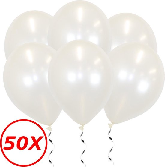 Witte Ballonnen Feestversiering Metallic Verjaardag 50 stuks Bruiloft Wit Ballon