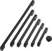 Handgreep Metaal Zwart 140mm - Hartafstand 128mm - Kast, Keukenkast, Lade, Dressoir of Deurtje - Industrieel - Luxe - Meubelbeslag