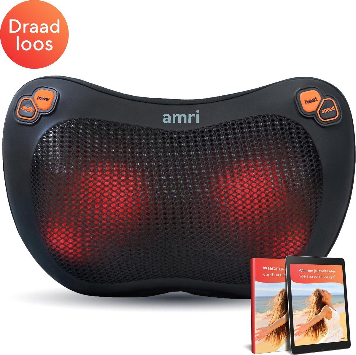 AMRI - Draadloos Massage Kussen - Shiatsu Massage -  Infrarood Warmte