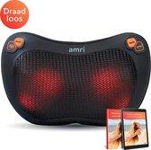 AMRI® - Draadloos Massage Kussen - Shiatsu Massage -  Infrarood Warmte