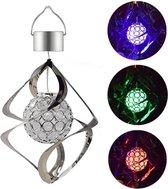 ✿BrenLux® BrenLux – Wind spinner solar - Windlicht - Zonne energie lamp - Sfeerverlichting tuin - Tuindecoratie - Decoratie tuin – Gekleurde Windspinner