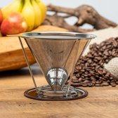 Permanent - Herbruikbaar - Koffie Filter Houder - RVS