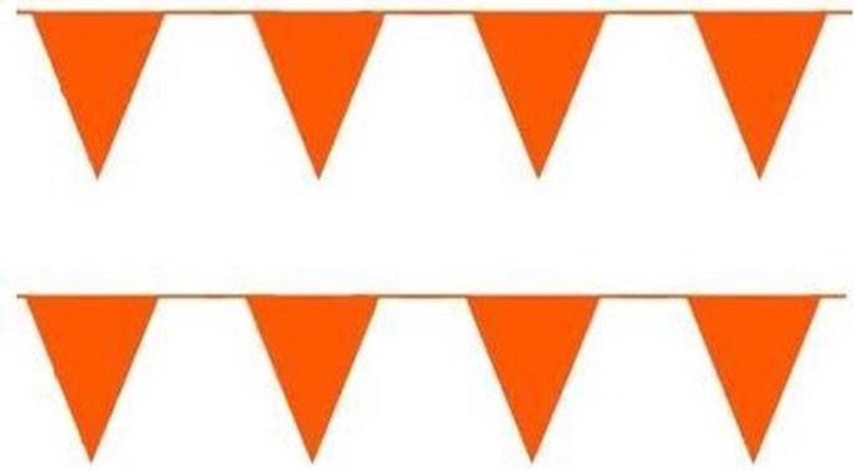 Vlaggenlijn Oranje punt vlag ongeveer 10 meter