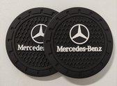 Mercedes Benz Antislip Onderzetter - Siliconen - 72 mm - Set van 2 Onderzetters - Auto Accessoires