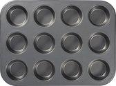 Blokker muffinvorm - 12 stuks - met antiaanbaklaag