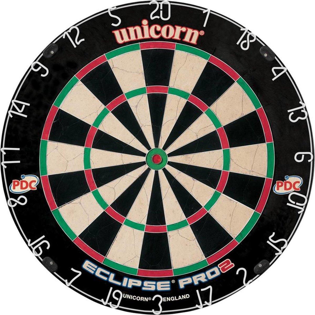 Dartbord Unicorn Eclipse Pro - zonder dartpijlen - sisal PDC - Darts darten - Dartstandaard niet nodig