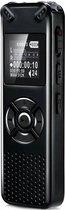 Interwinkel - Digitale spraak recorder – 32GB Interne opslag - Muziek - Audio MP3 of WAF – 35 uur opname tijd - Draadloze memo recorder – USB oplaadbaar - Zwart