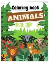Animals Coloring Book: For kids ages 4-8