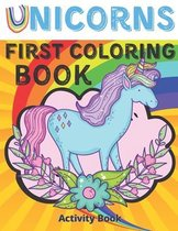 Unicorns first coloring book