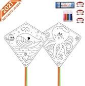 Nince vliegers voor kinderen complete set van 2 - Vliegers voor kinderen - Wit