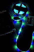 N3xtGen® LED Strip Verlichting met Afstandbediening - RGB - LED Strip - 5 meter - Led Light Strip - Multi-colour - Kleurverandering - Feest Lamp - Disco Lamp - Sfeer Licht
