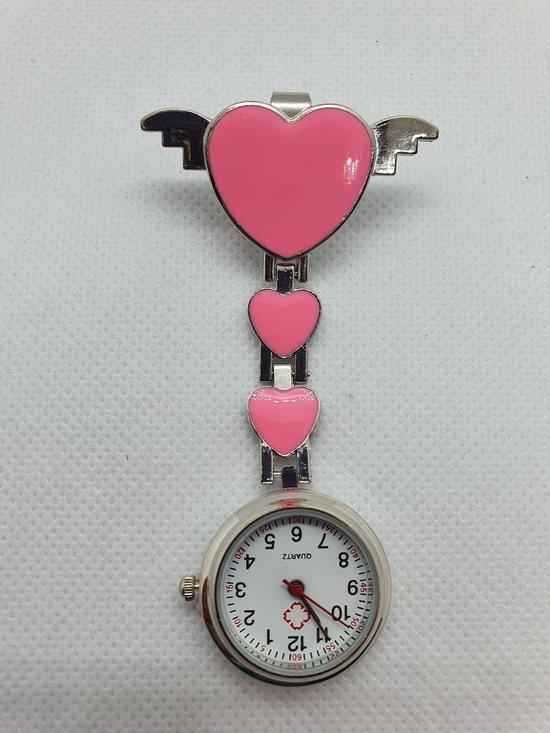 Verpleegsterhorloge/Verpleegkundige horloge/Nurse watch met harten