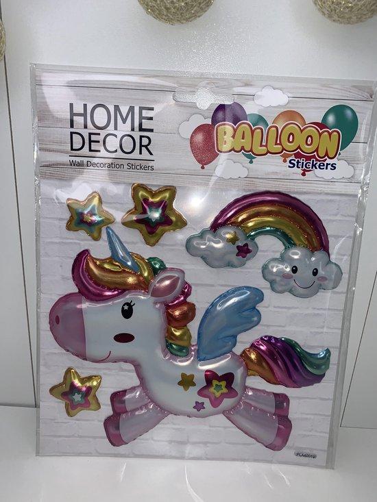 ballon stickers regenboog kleur