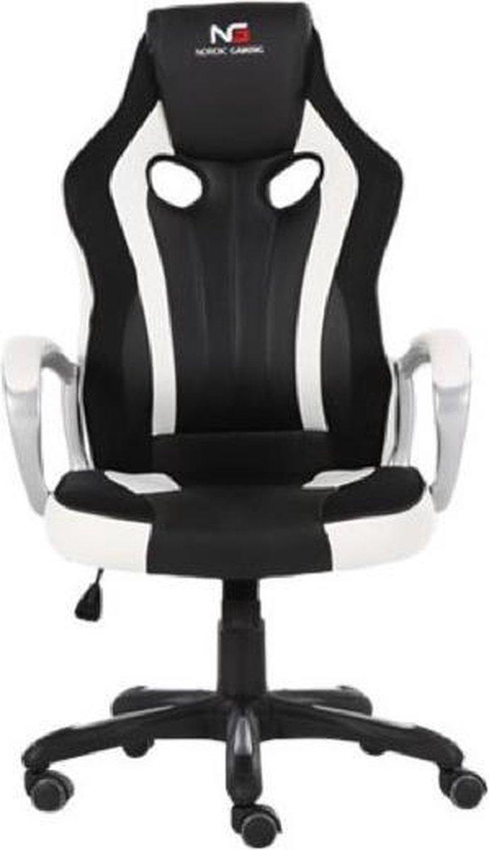 Nordic Gaming Challenger - gamestoel / gaming chair - zwart / wit