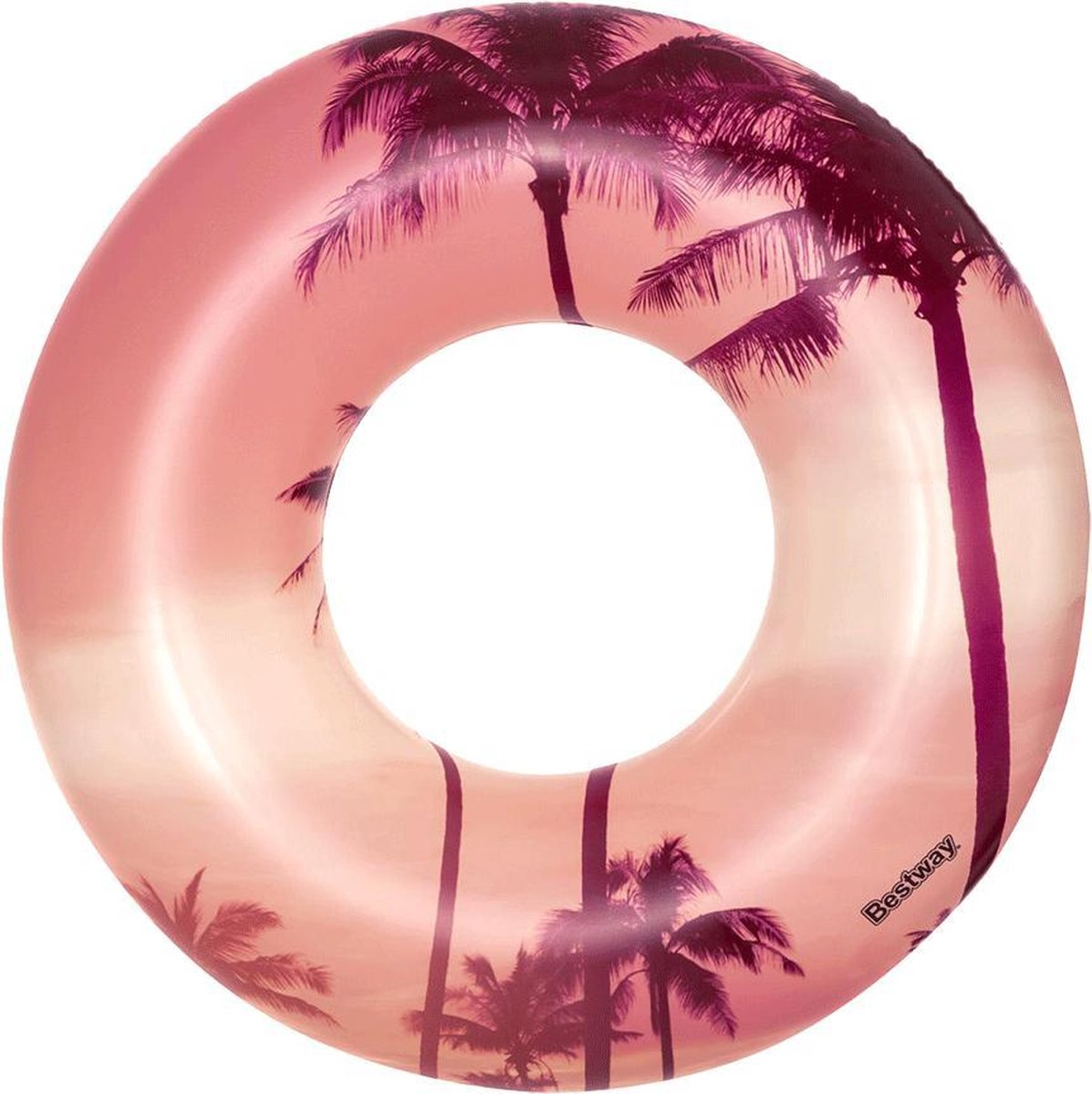 opblaas zwemband tropical sunset 119 cm | roze