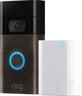Ring Video Deurbel 2 Brons - Inclusief Chime 2e generatie (deurbelgong)