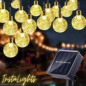 Instalights - Tuinverlichting op Zonne-Energie - 7 meter - 50 Lampjes - Lichtsnoer - Lampjes Slinger - Kristallen LED Bollen