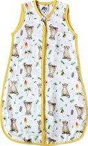 Slaapzak baby 70 cm hydrofiel voor zomer - Baby luipaard print - Super zacht bamboe textiel - Baby 3 - 6 mnd - Eigen ontwerp geschilderd door Mies