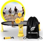 VE Goods - Roundnet - Roundball - Inclusief Opbergtas en Pomp - Zwart/Geel - 3 Ballen - Buitenspel - Buitenspelen - Metaball - Buitenspellen Kinderen/Volwassenen