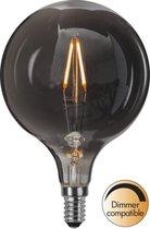 Star Trading Smoked glass (grijs) LED lamp - 1.5 W - Warm wit - D 9.5 cm - H 14.3 cm - Dimbaar - E14
