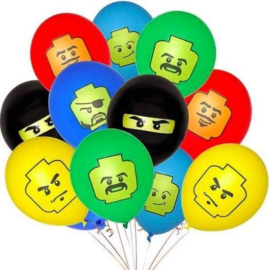 ProductGoods - 10x Lego Ballonnen Verjaardag -Verjaardag Kinderen - Ballonnen - Ballonnen Verjaardag - Lego - Kinderfeestje