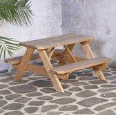 SenS-Line - Kindertafel Naturel - Picknicktafel Voor buiten - FSC 100 % Grenenhout - L 90 x B 90 x H 55 cm