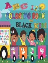 ABC 123 Coloring Book For Black Kids
