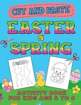 Easter & Spring Cut and Paste Activity Book for Kids Age 4-8